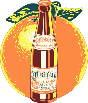 Miscoe Orange Dry Advertisement Metal Sign