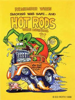 Remember When Smoking Was Safe Rat Fink Metal Sign