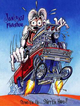 Junkyard Finkster Rat Fink Metal Sign