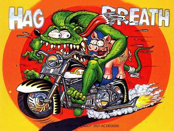 Hag Breath Rat Fink and Hog Metal Sign