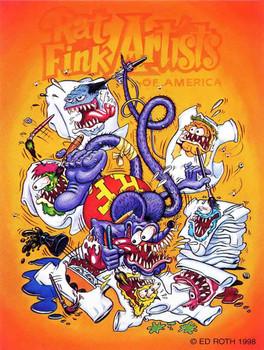 Rat Fink Artists of America Rat Fink Metal Sign
