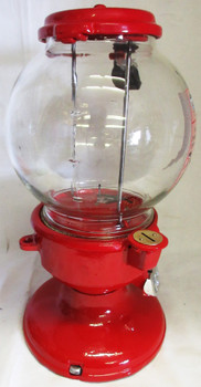 """Columbus Model """"A"""" Red Peanut Dispenser Penny Operated Circa 1930's #2"""