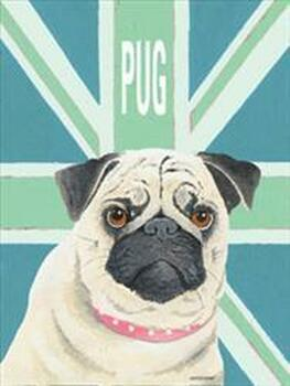 Pug with Green Flag