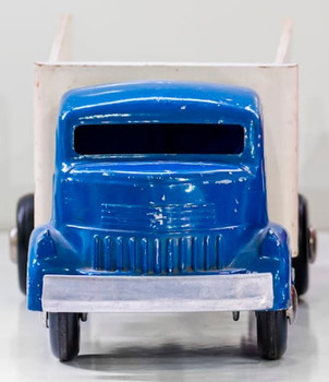 Smith Miller Blue Union Ice Flatbed Truck  circa 1940's