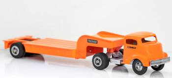 Smith-Miller GMC Tractor with Flatbed Lowboy Trailer Circa 1940's #2