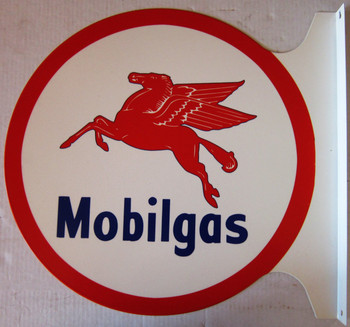 "Mobilgas Flange Sign 19"" Wide by 18"" Tall"