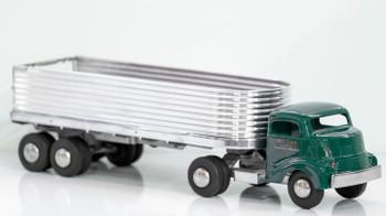 Smith Miller Green GMC Tractor And Silver Trailer Circa 1950's