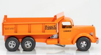 Smith-Miller Orange Mack L Blue Diamond Dump Truck circa 1950's Oranger