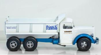 Smith-Miller White Mack L Blue Diamond Dump Truck circa 1950's