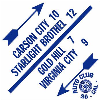 AAA Auto Club So. Cal. Carson City Road Sign