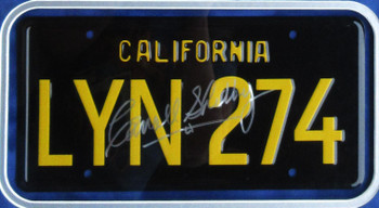 """Carroll Shelby Framed Autograph License Plate """"Gone in 60 Seconds"""" Certified"""