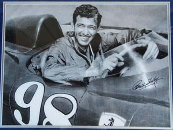 Carroll Shelby Framed Autograph Ferrari Certified Limited Lithograph