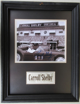 Carroll Shelby Sports Cars Inc Framed Autograph Certified