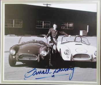 Carroll Shelby with Cobras Framed Autograph Certified