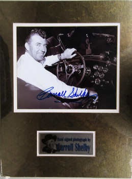 Carroll Shelby Cobra Matted Autograph Certified