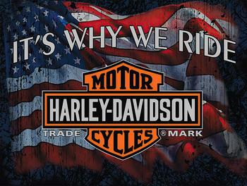 Why We Ride Harley Davidson Metal Sign