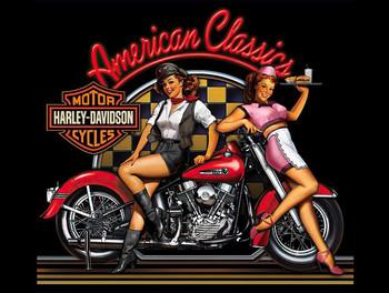 American Classics Retro Harley Davidson Metal Sign