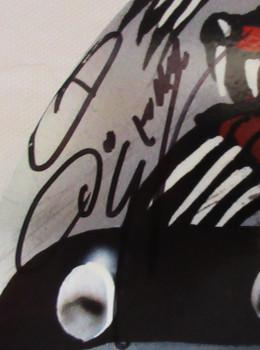 "Tom ""Mongoose"" McEwen Helmet Autographed Metal Sign"