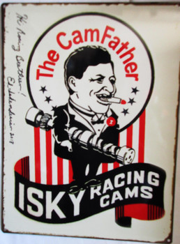 """Ed Iskederian """"The CamFather"""" Autographed Metal Sign"""