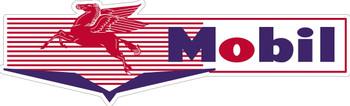 Mobil Gas Gasoline Bow-Tie Plasma Cut Metal Sign