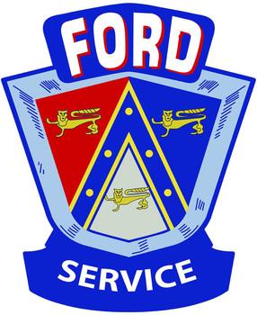 Ford Crest Plasma Cut Metal Sign