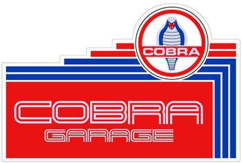 "Cobra Garage 18"" Plasma Cut Metal Sign (Small)"