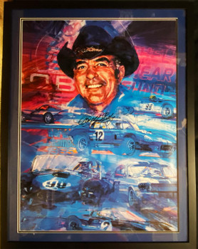 Carroll Shelby Framed Collage Poster Certified Autograph