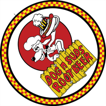 Dog N Suds Root Beer Round Metal Sign