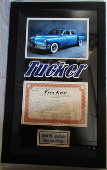 Tucker Corporation 100 Shares Stock Signed Preston Tucker 1947