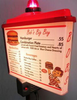 """Bob's Big Boy Drive Inn Menu Board 48"""" Tall"""