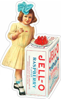 Jell-O Raspberry Flavor Plasma Cut Metal Sign