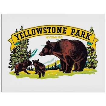 Yellowstone Park Metal Sign: Travel Decor Wall Accent