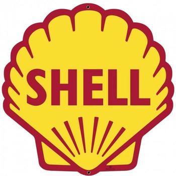 "Shell Clamshell Metal Sign ( Plasma-Cut ) 28"""