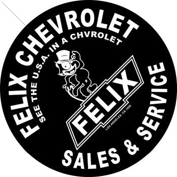 """Felix Chevrolet Sales and Service 14"""" Round Metal Sign"""