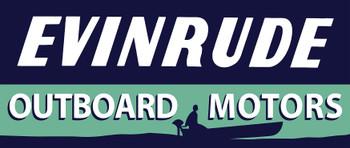 """Evinrude Outboard Motors 24"""" x 10"""" Metal Sign"""