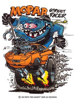 Mopar Street Racer Ed Roth Rat Fink Monster Metal Sign