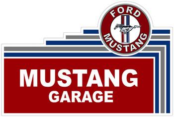 """Mustang Garage 18"""" Plasma Cut Metal Sign"""