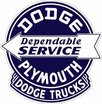 Dodge Plymouth Service Plasma Cut Metal Sign