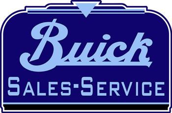 "Buick Sales-Service Plasma Cut 18"" Metal Sign"