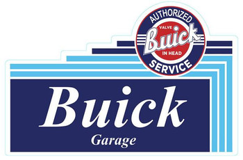 """Authorized Buick Garage 24"""" Metal Sign"""