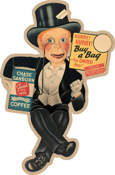 Chase Coffee Metal Sign
