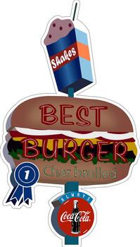 Best Burger Plasma Cut Metal Sign