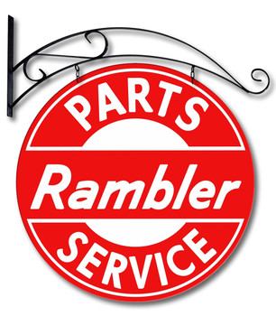 Rambler Parts Service Double Sided Sign with Hanger