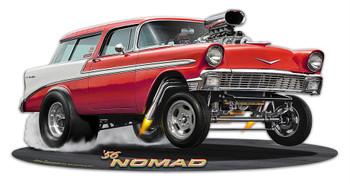 1956 Red Nomad Gasser Plasma Cut Metal Sign