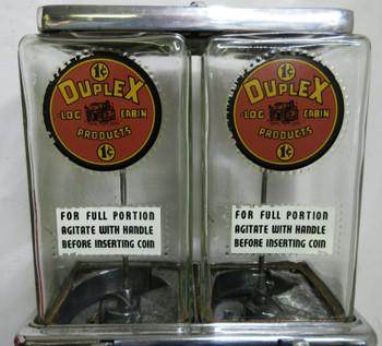 Duplex Log Cabin 1c Peanut / Candy Dispenser circa 1930's #2