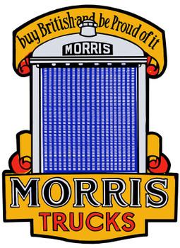Morris Trucks Plasma Cut Metal Sign