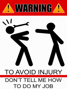 Danger How to Avoid Injury in the Workplace Metal Sign