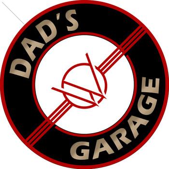 """Dad's Willys Garage 14"""" Round Metal Sign"""