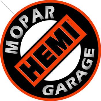 """Mopar Hemi Garage 14"""" Round Metal Sign"""