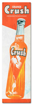Orange Crush Carbonated Beverage, Soda Metal Sign
